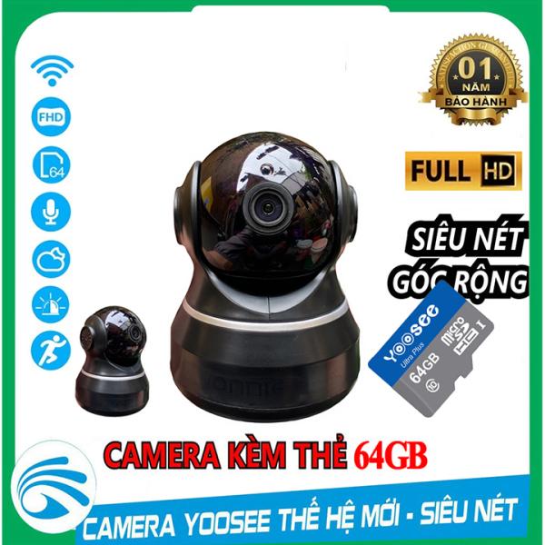 Camera IP YooSee WIFI Xoay 360 Độ, Quan Sát Rõ Ngày Và Đêm FULL HD 720p Báo Động Chống Trộm Kèm Thẻ Nhớ 64gb- Chính Hãng