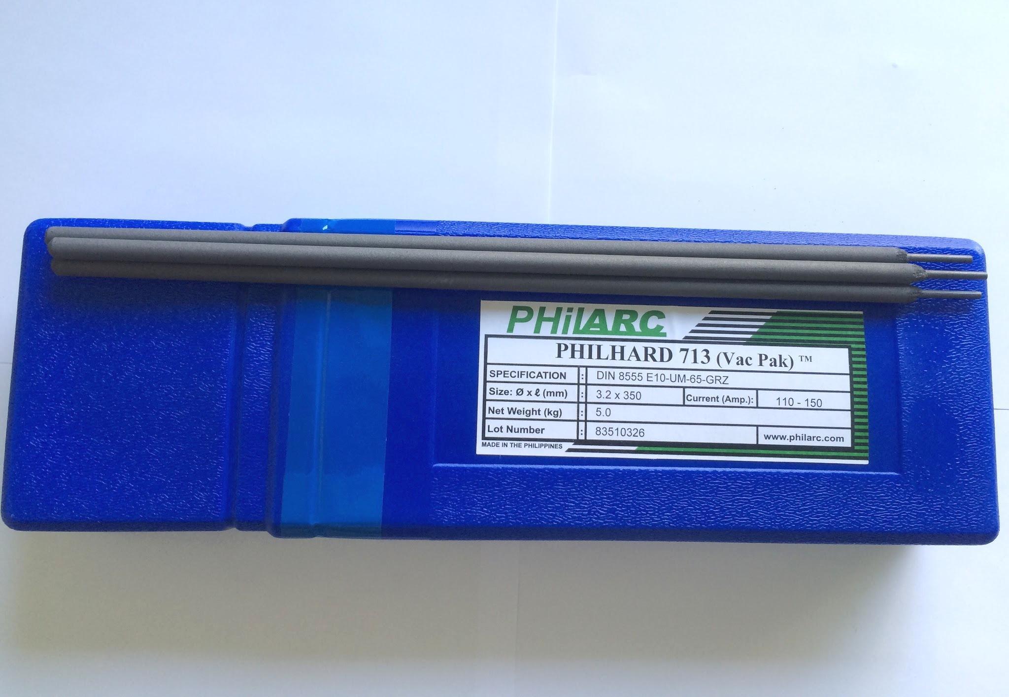 Que hàn chống mài mòn Philhard 713 D4.0mm Độ cứng 64HRC