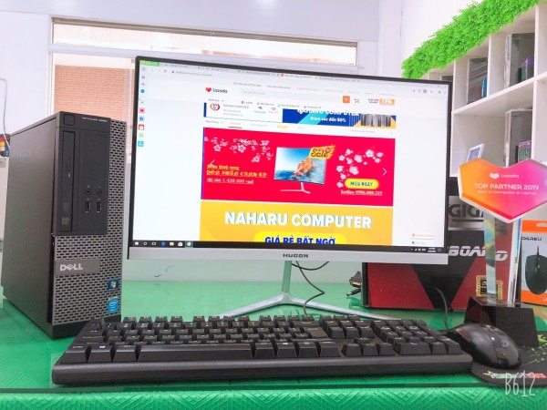 Bảng giá Bộ máy tính Văn phòng Dell Optiplex  (Core i5 4570 - Ram 8Gb - SSD 120Gb) Màn hình Cong 24 inch - Tặng Bàn phím chuột - Chuyên dùng cho Công ty Doanh Nghiệp Phong Vũ