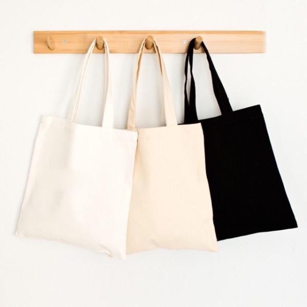 Túi vải Canvas tote nữ  trơn trắng đen ngà có khóa kéo-Sỉ balo túi, phù hợp làm quả tặng,mua thêu vẽ lên sp tùy thích