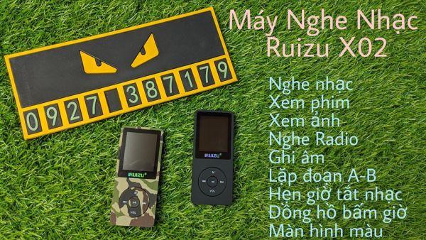 (CÓ SẴN) Máy nghe nhạc lossless Ruizu X02 bản 8Gb - Bản 2021 - Nghe nhạc, xem phim, xem ảnh, đọc Ebook