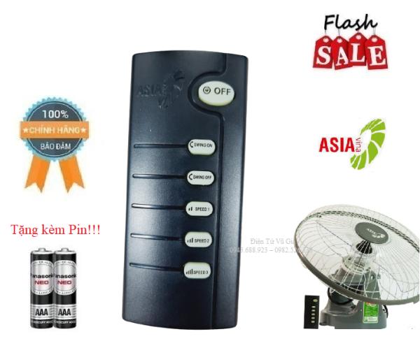 Remote Điều khiển quạt Asia- Hàng mới chính hãng công ty 100% tặng kèm Pin
