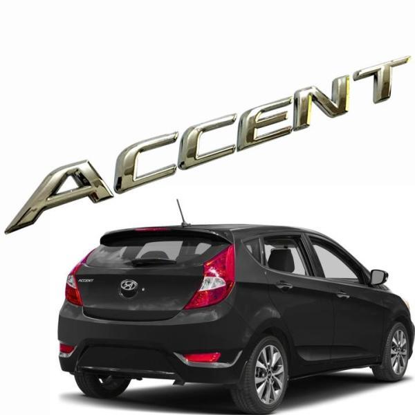 Tem logo chữ nổi ACCENTdán đuôi xe