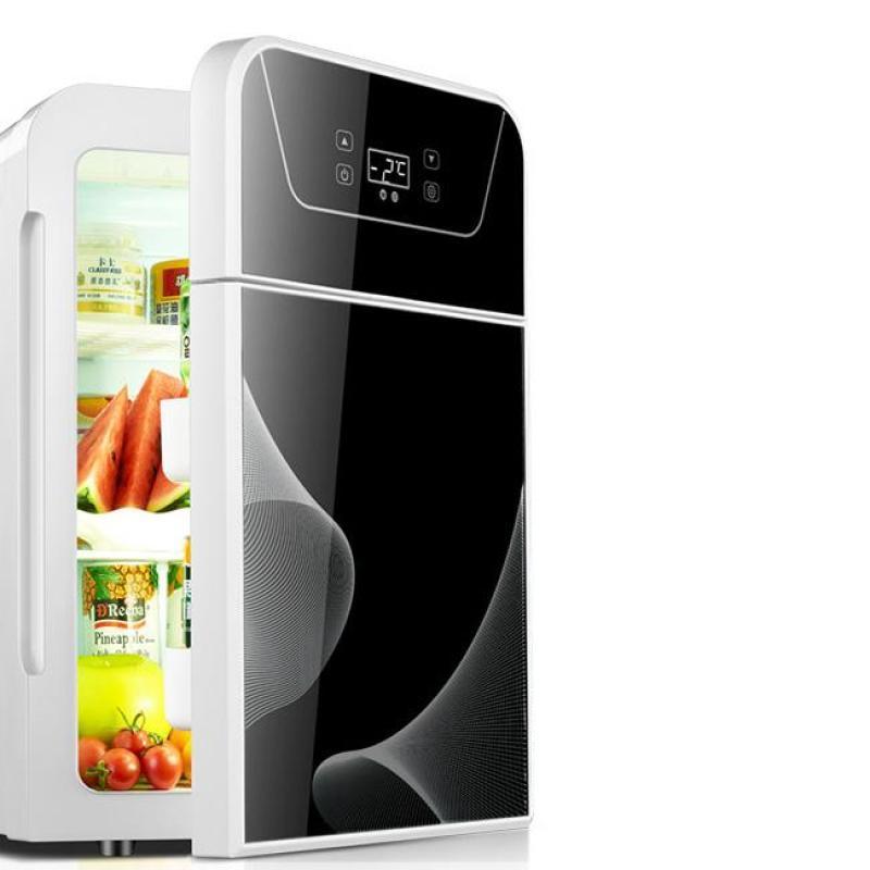 Tủ lạnh 2 ngăn 22 lít làm lạnh hâm nóng LV-22L hiển thị nhiệt độ màu đen sang trọng