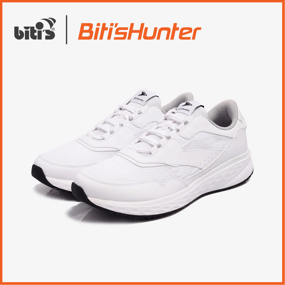Giày Thể Thao Nam Biti's Hunter Core White Snow DSMH01201TRG- Festive Collection 2k19