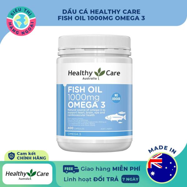 [HCM]Dầu cá Healthy Care Fish Oil 1000mg Omega 3 Date07/2024 [Tốt cho não mắt tim mạch hệ thần kinh] Hộp 400 viên  Hàng Úc (được bán bởi Siêu Thị Hàng Ngoại) cao cấp