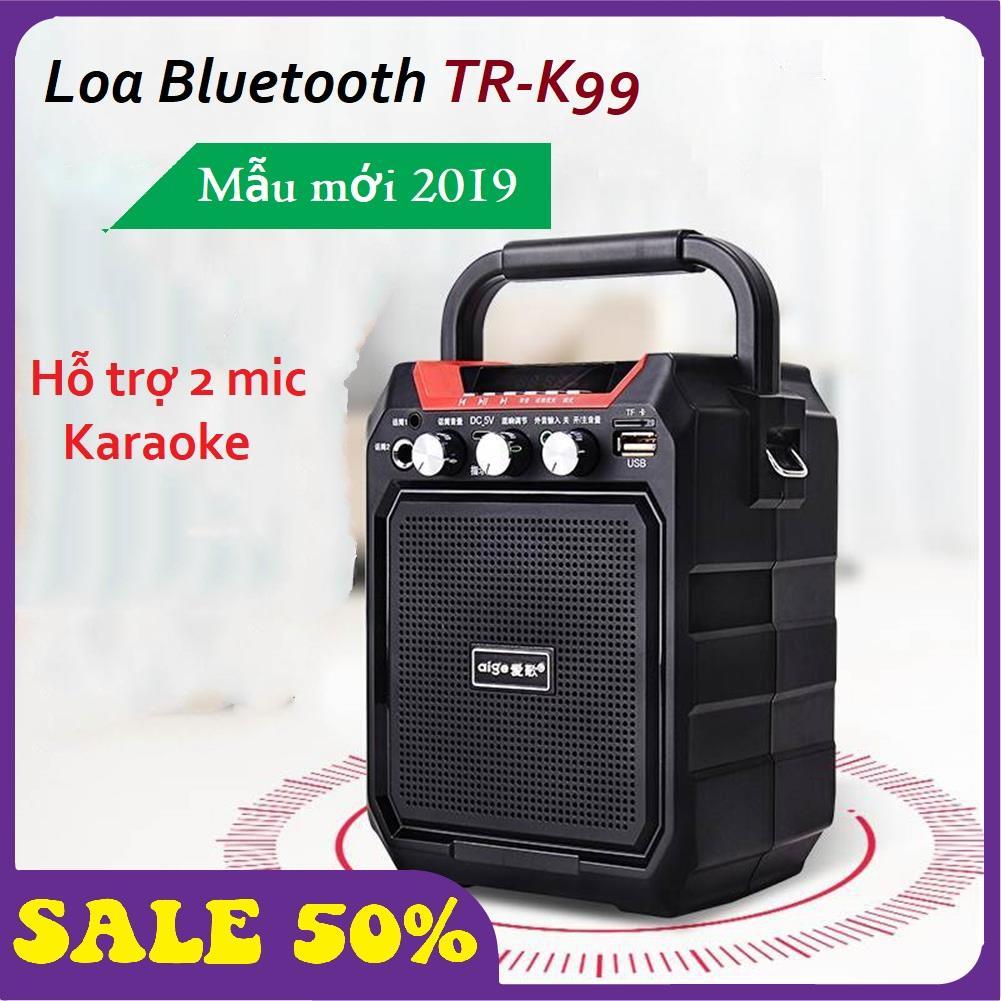 Loa Bluetooth Điện Thoại, Loa Hát Karaoke, Loa Bluetooth TR-K99 Cao Cấp Chất Liệu Nhựa ABS Chống Sốc Tốt, Âm Bass Êm Trong, Dung Lượng Pin Lớn 3600 mAh Phù Hợp Cho Các Chuyến Phượt - Sale Giá Tốt Hốt Ngay Nhiều Ưu Đãi. Nhật Bản