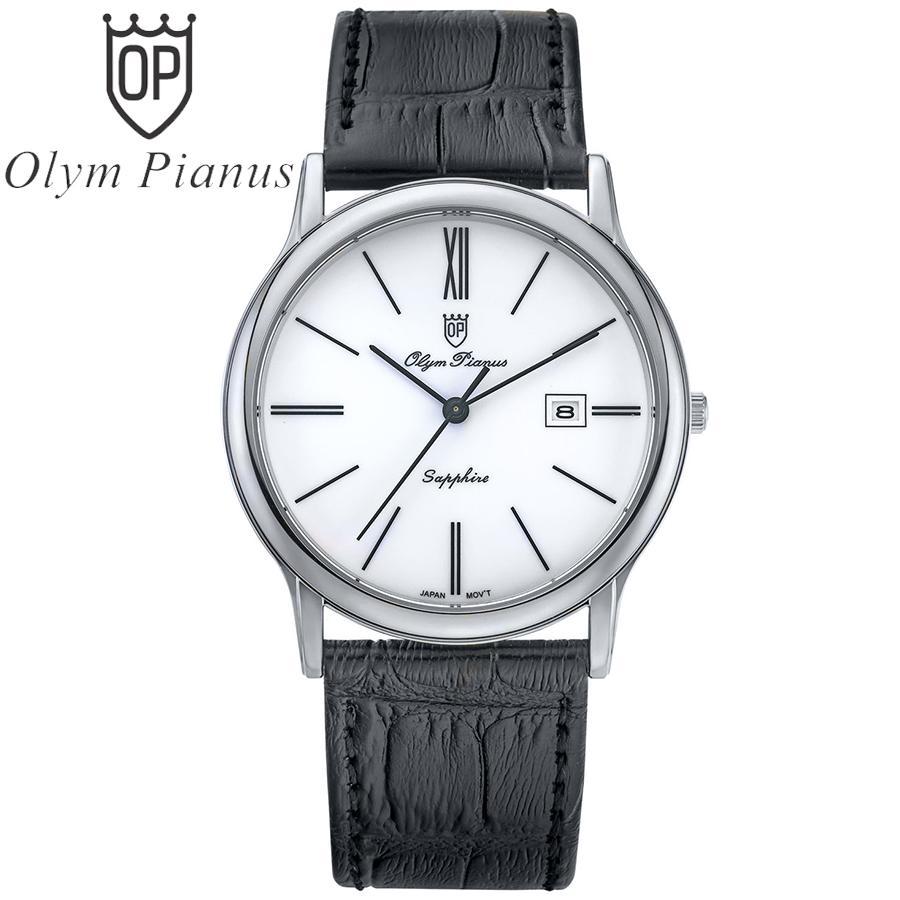 Đồng hồ nam mặt kính sapphire Olym Pianus OP130-10GS-GL trắng bán chạy