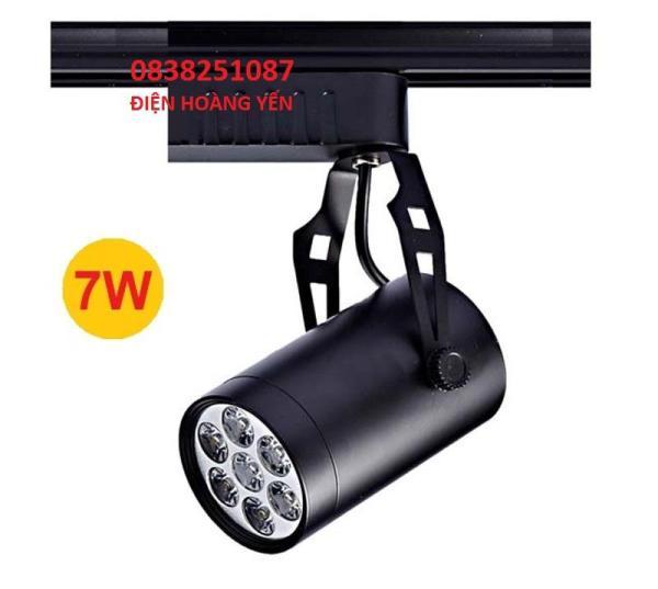 Đèn rọi ray 7w vỏ đen chuyên dụng trang trí cửa hàng, quán cafe, phòng gym