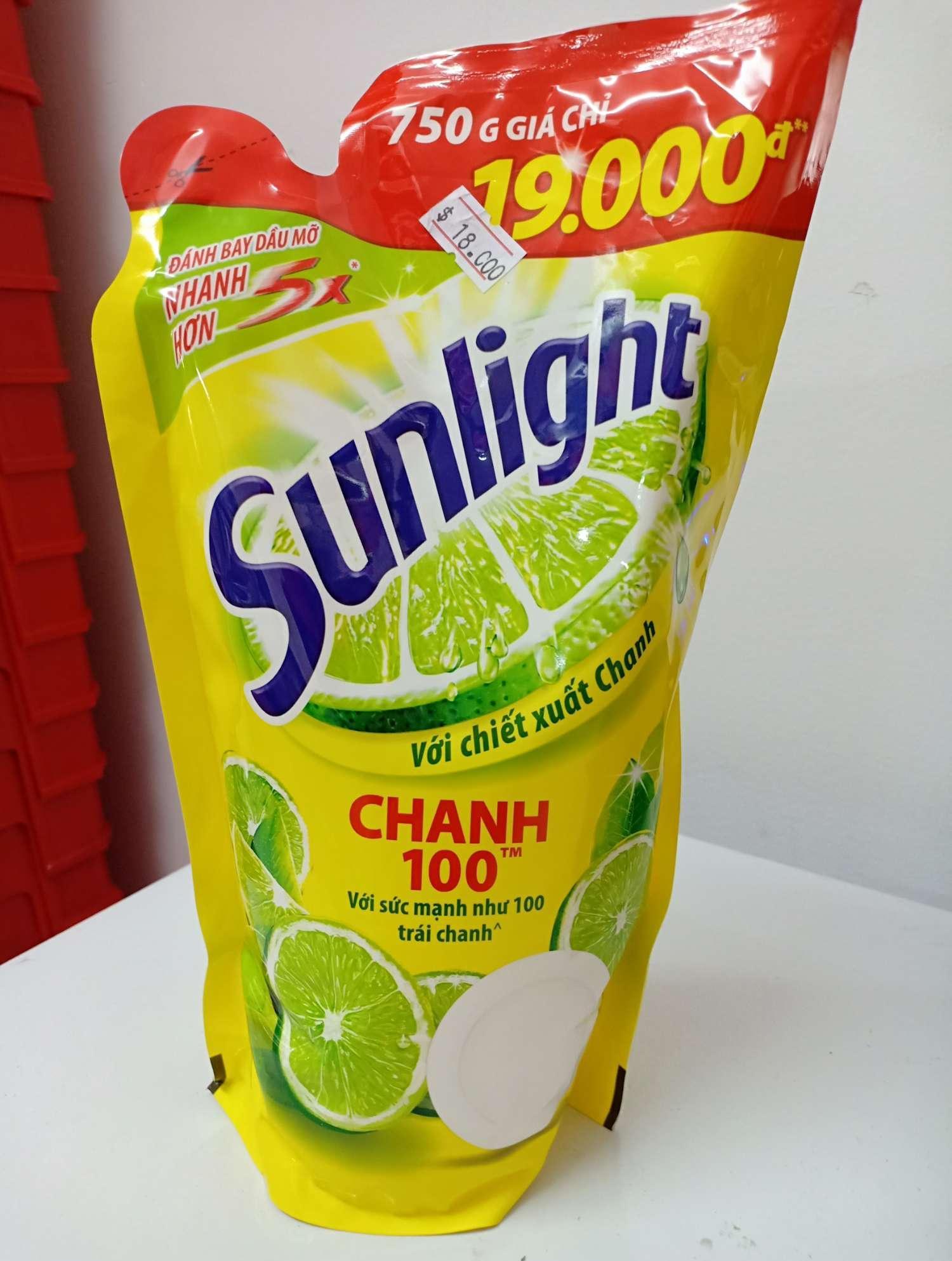 HCM. 2 nước rửa chén túi sunlight chanh 750ml