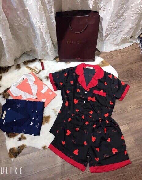 Phương Linh Luxury 1688 Bộ đồ ngủ tim pijama nữ form dưới 57kg tùy chiều cao Đồ Đi Biển Cặp Đôi và Gia Đình