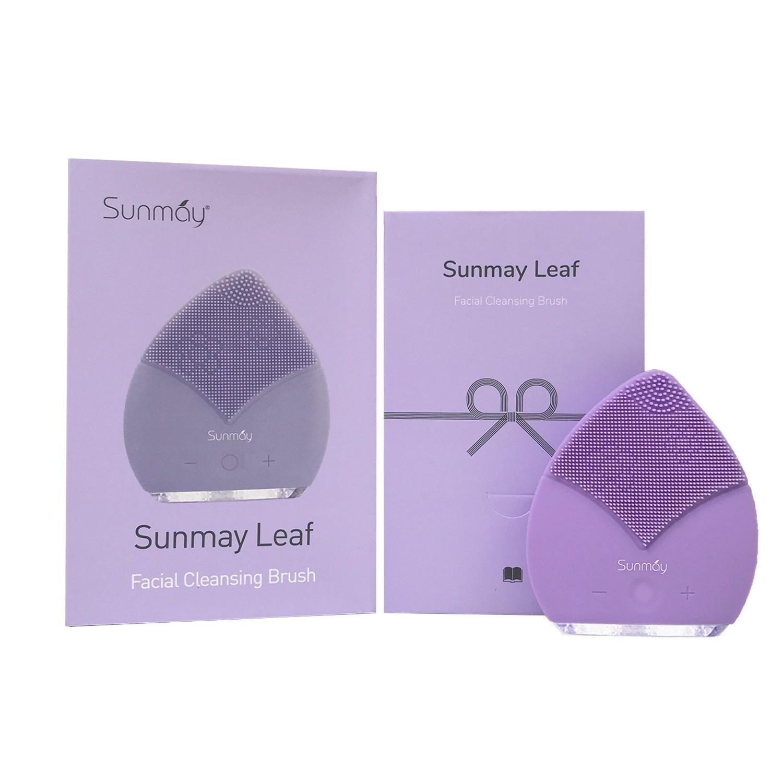 Máy rửa mặt Sunmay - Bản Luxury Leaf Tím ( Check code = Auth, Bảo hành 1 năm)