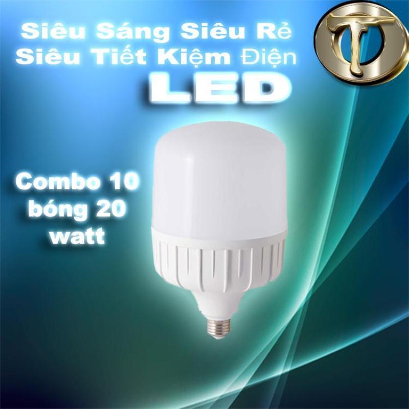 Combo 10 bóng đèn LED siêu sáng 20 Watt