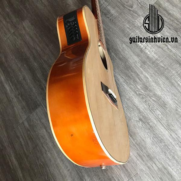 Đàn guitar acoustic + eq 7545 mặt gỗ thông có ty chống cong, âm sắc rõ ràng, độ vang tốt, có độ bền cao, dễ dàng sử dụng - tặng kèm 7 phụ kiện - bảo hành 12 tháng
