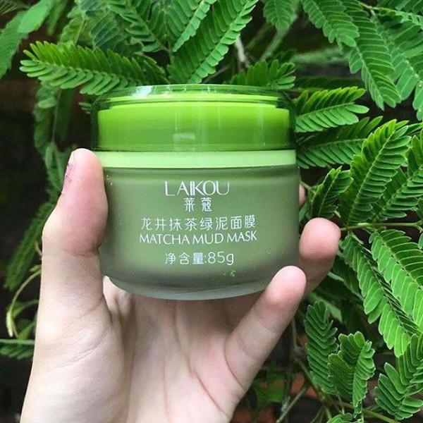 Mặt nạ trà xanh Matcha mud mask Laikou – Hộp
