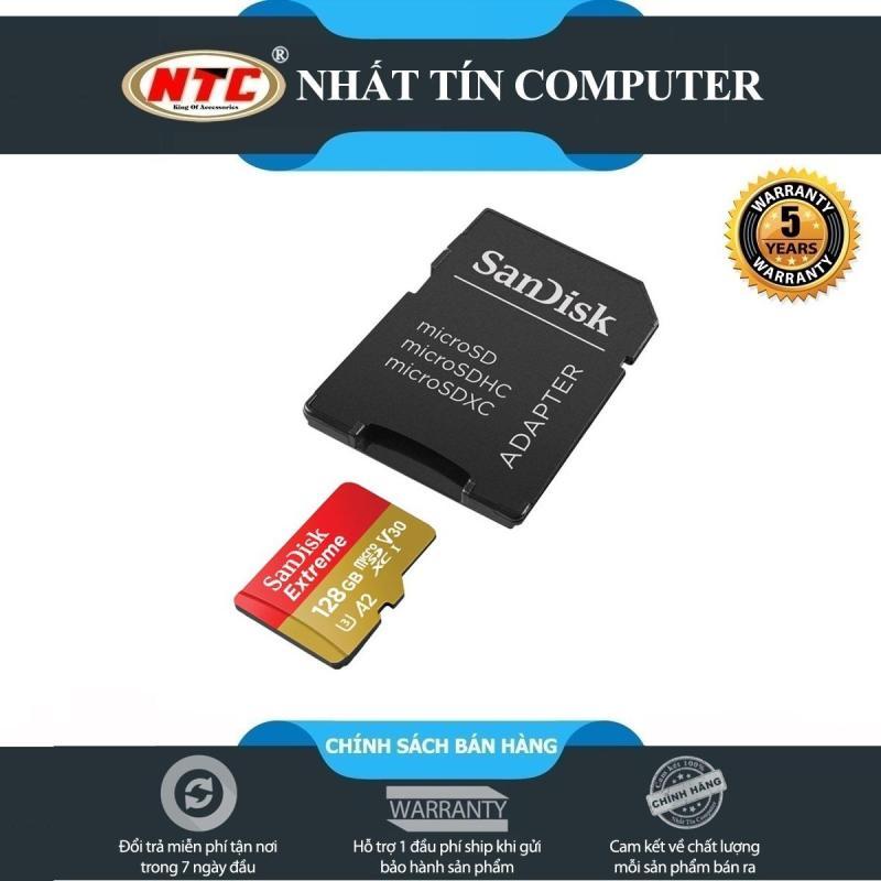 Thẻ Nhớ MicroSDXC SanDisk Extreme 128GB V30 U3 4K A2 R160MB/s W90MB/s (Vàng đồng)