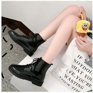 Boot nữ cổ ngắn,bốt thời giang mùa đông cao cấp ,boots nữ,Giày Martins phong cách ulzzang đế 3 phân thumbnail