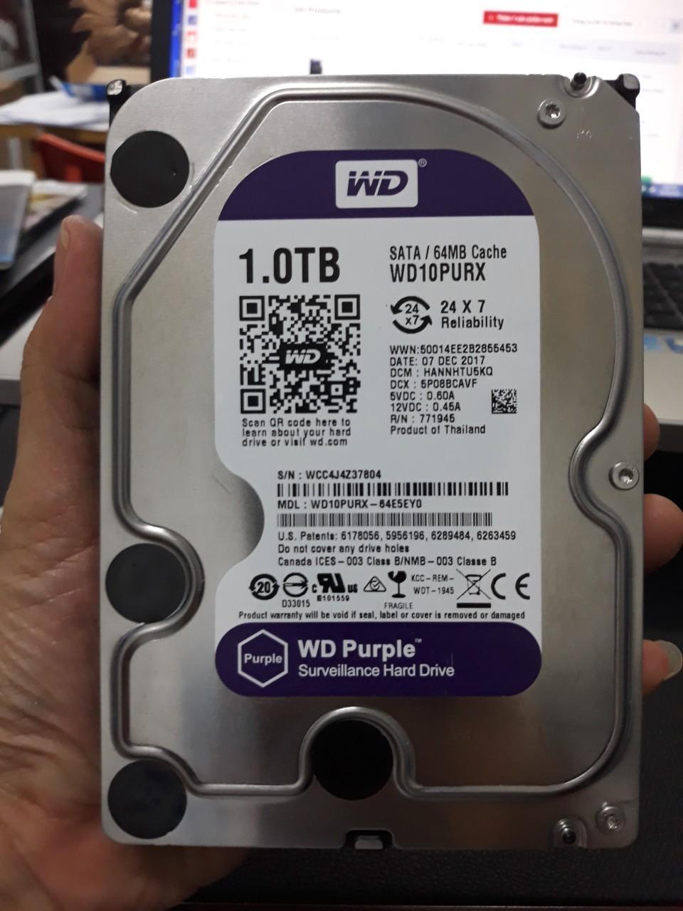 Deal Ưu Đãi Ổ Cứng HDD 1TB WD Purple  - WD10PURX