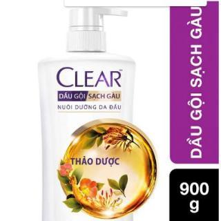 Dầu Gội Sạch Gàu Clear Thảo Dược 900g thumbnail