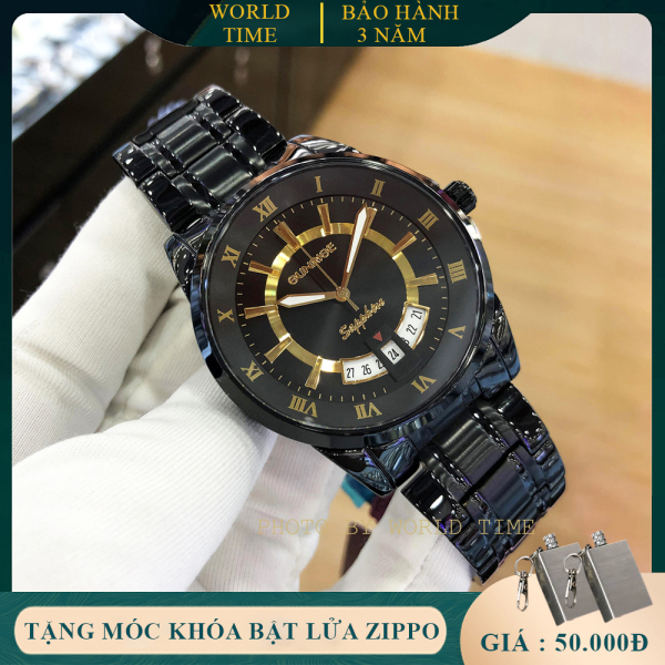 Đồng hồ nam cao cấp dây kim loại Sunrise DM771SWA-1 full box, kính saphire chống xước, chống nước, thẻ bảo hành toàn quốc 3 năm
