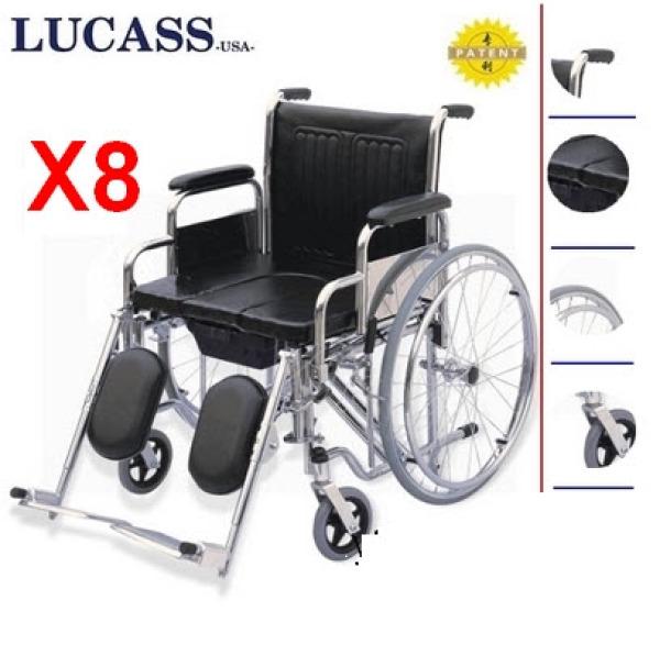 Xe lăn có bô vệ sinh Lucass X8 - HÀNG CHÍNH HÃNG