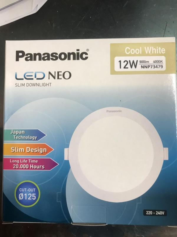 Đèn Led  Âm Trần Siêu Mỏng 12W Panasonic Phi 125 ( made in Indonesia)