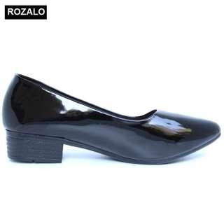 Giày búp bê nữ da bóng Rozalo R5602