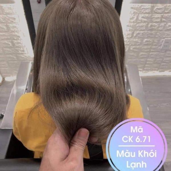 Thuốc nhuộm màu Nâu Khói Lạnh (không tẩy tóc) (kèm trợ nhuộm và găng tay) giá rẻ