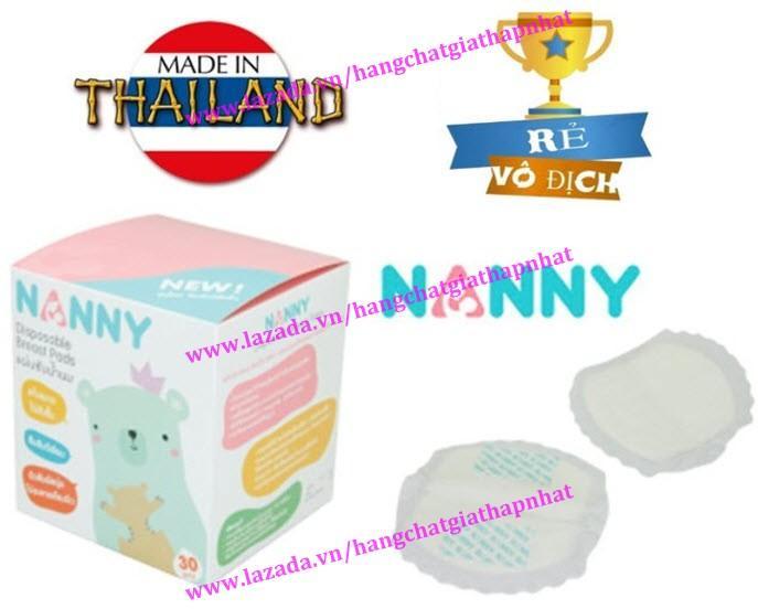Nanny (Thái Lan) - Hộp 30 Miếng Lót Thấm Sữa Mẹ Dùng 1 Lần Siêu Tiết Kiệm