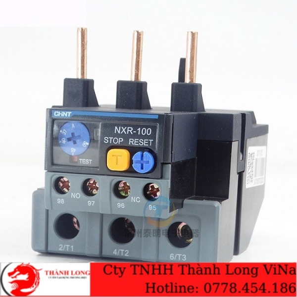 Rơ le nhiệt ChinT NXR-100 23-32A, 30-40A, 37-50A, 48-68A, 55-70A, 63-80A, 80-93A, 80-100A