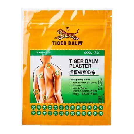 Miếng Dán Tiger Balm Plaster Cool Singapore - Gói 3 Miếng - Giúp Giảm Đau Nhanh Chóng