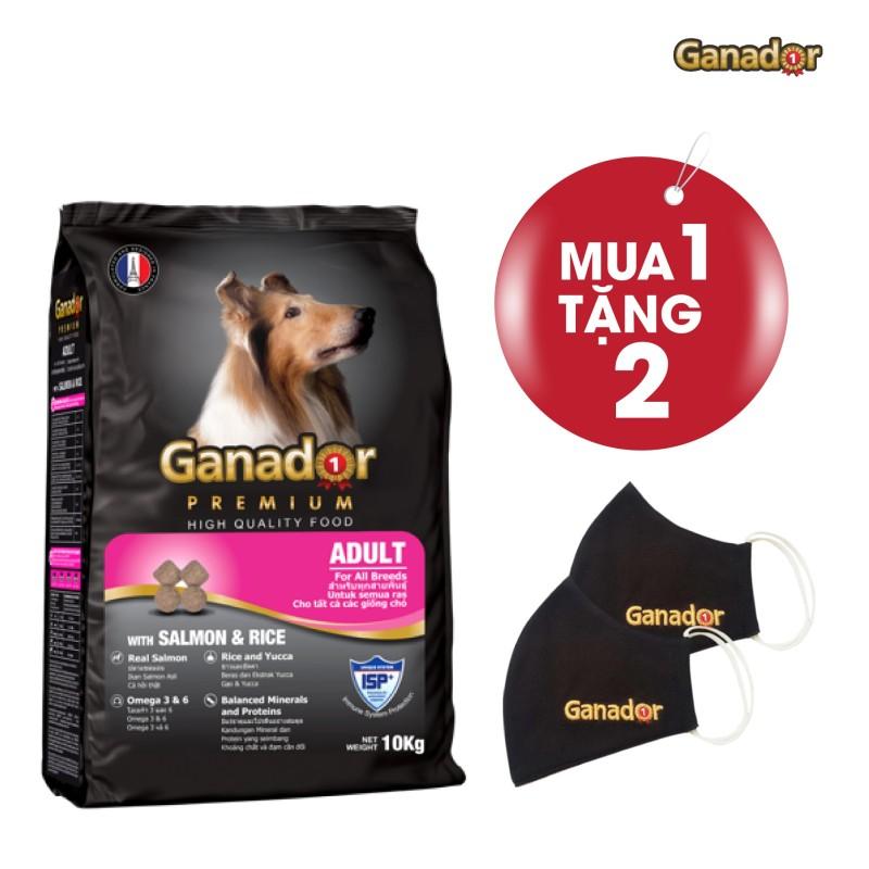 Thức ăn cho chó trưởng thành Ganador vị cá hồi & gạo Salmon & Rice 10kg