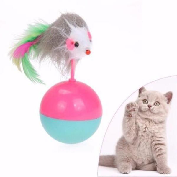 HCM-Đồ chơi cho mèo - BÓNG CHUỘT LẬT ĐẬT đồ chơi dành cho mèo yêu