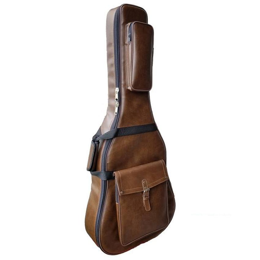 Bao đàn guitar 5 lớp cao cấp - softcase guitar Simili dày - bao da đàn guitar 5 lớp dành đựng đàn guitar full size acoustic và classic Duy Guitar Store phụ kiện guitar giá tốt