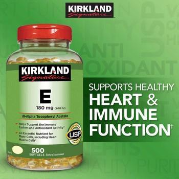 Viên uống bổ sung Vitamin E cho da Kirkland Signature Vitamin E 400 I.U