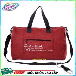 Túi xách du lịch hành lý gấp gọn tiện lợi BOOK TT22 Shalla Tặng móc khóa cao cấp thumbnail