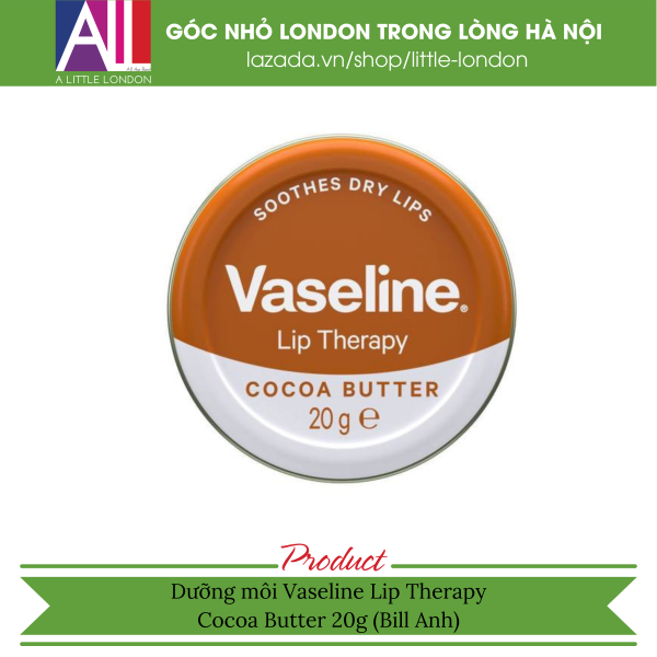 Dưỡng môi Vaseline Lip Therapy - Cocoa Butter 20g (Bill Anh) cao cấp