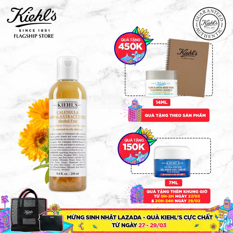 Nước cân bằng Hoa Cúc Kiehls Calendula Herbal Extract Alcohol-Free Toner 250ML giá rẻ