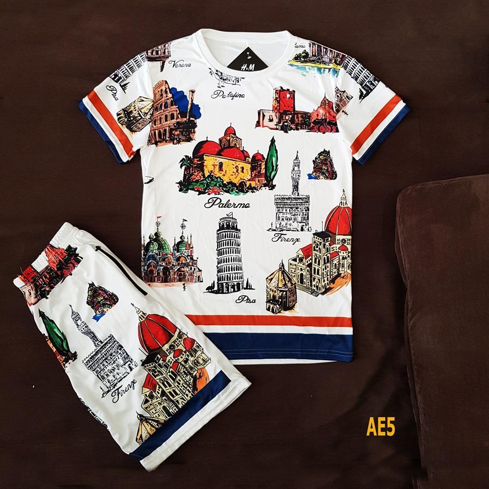 Bộ quần áo mùa hè nam 3D Cao Cấp - Quần áo thể thao nam Chất Thun Lạnh Size M L Xl 45-80kg