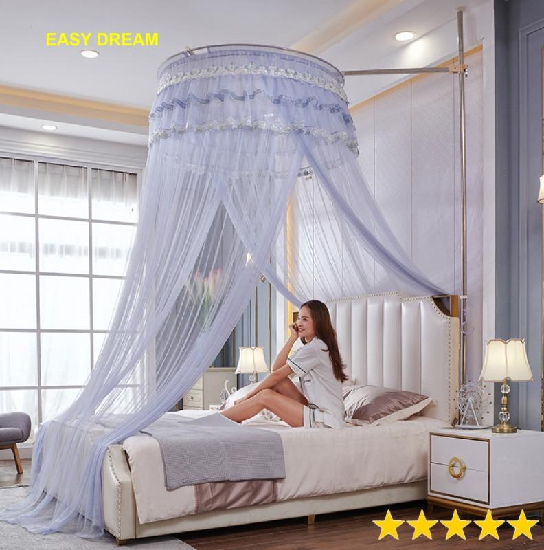 Easy Dream Màn { mùng } công chúa đa năng không khoan tường chống muỗi côn trùng  Màn cưới - Qùa tặng -Tân Gia -Trang Trí -Phòng ngủ Mosquito Net khách sạn resort