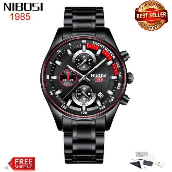 [HCM]Đồng hồ nam dây thép đặc Nibosi 2375 fullbox