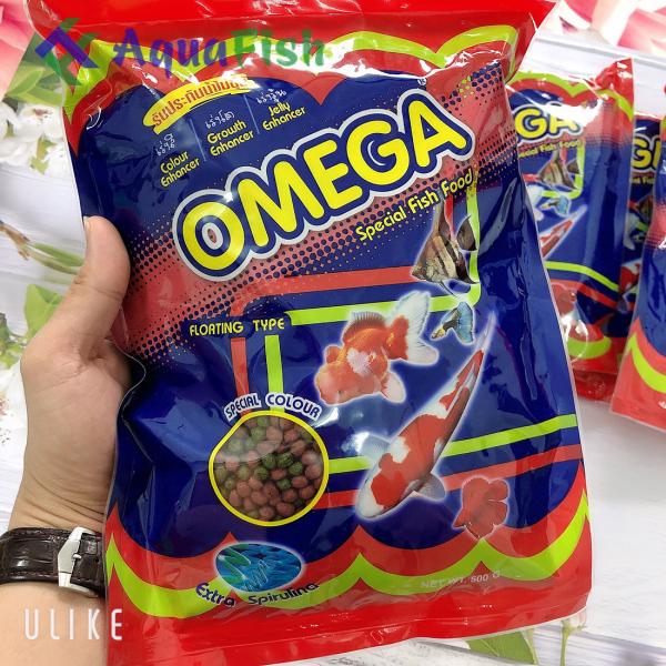 Thức Ăn Cho Cá Koi Omega 500g (giúp cá koi nhanh lớn, tăng màu và không gây đục nước)