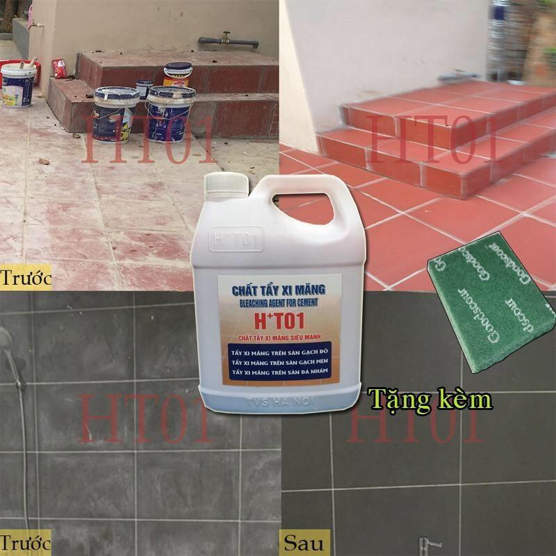 chất tẩy xi măng loại 5lit, (chất tẩy xi măng HT01, nước tẩy xi măng, chất tẩy cặn canxi, nước tẩy gỉ sét trên gạch, nước tẩy đa năng gạch) nước tẩy gạch đỏ