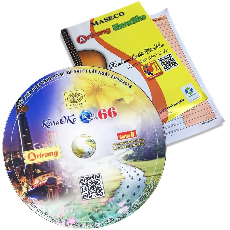 Bộ sách Vol 65-66 và dĩa Karaoke Arirang Serial B mới cập nhật