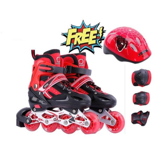 Giá bán Giày trượt Patin trẻ em tặng mũ và đồ bảo hộ (5 đến 14 tuổi), Giày Trượt batin Trẻ Em Cao Cấp. HOT SALE tới 50%