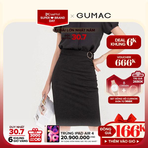 Nơi bán [3000 QUÀ CHỈ 30/7]- ĐỘC QUYỀN LAZADA- Chân váy nữ phối phụ kiện VB743 mẫu mới GUMAC