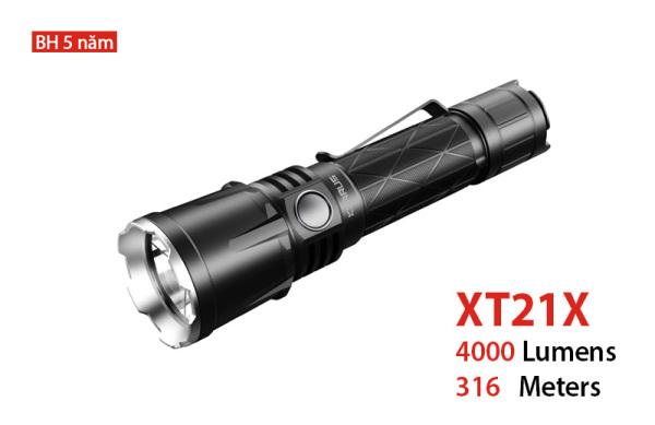 KLARUS XT21X - Đèn pin tác chiến phản ứng nhanh, độ sáng 4000lm, chiếu xa 316m cổng sạc USB sử dụng 1 pin 21700 5000mAh (đi kèm)