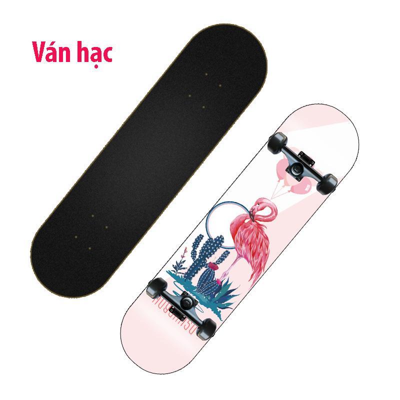 Ván trượt skateboard thể thao chất liệu gỗ phong ép cao cấp 8 lớp mặt nhám 12