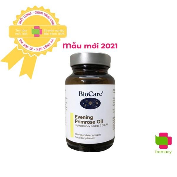 Tinh dầu Hoa anh thảo BioCare Evening Primrose Oil, Anh (30 viên) làm đẹp da tóc, cân bằng nội tiết cho phụ nữ, mẹ bầu