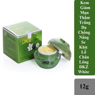 Kem Ngừa Mụn - Giảm Thâm - Trắng Da - Chống Nắng & Se Khít Lỗ Chân Lông DKZ white 12g( Hàng Chính Hãng ) thumbnail